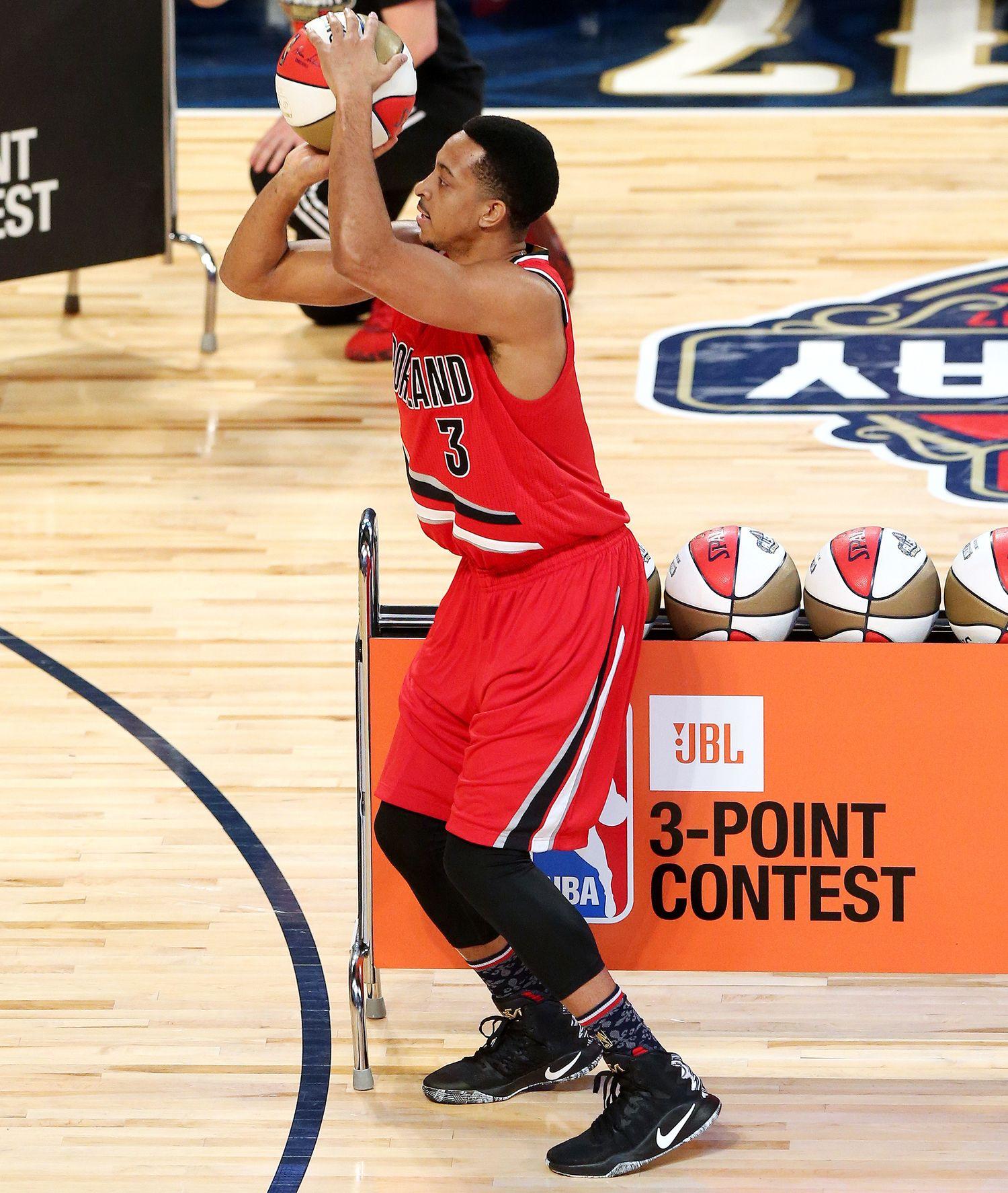 77d211511a2 2017 NBA All-Star Saturday s-------C.J. McCollum  Nike Hyperdunk 2016