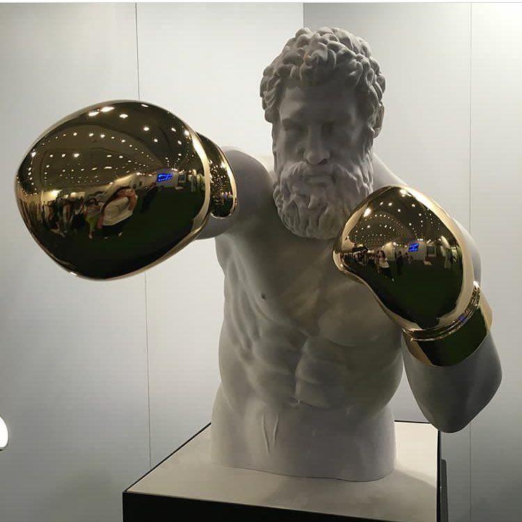 spesso Hercules by Emre Yusufi scultura, boxer, arte contemporanea  SY92