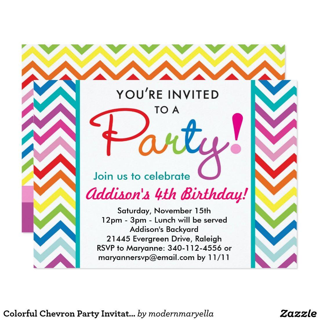 create your own invitation  zazzle  party