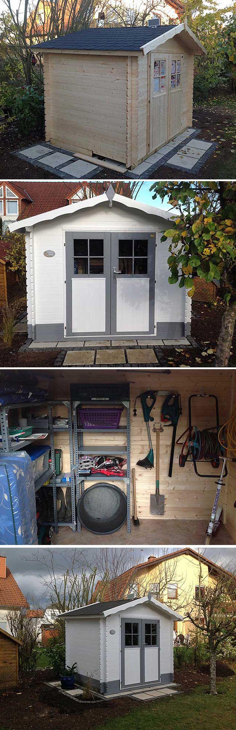 Gerätehaus CAROL Aufbau, Einrichtung und Solarlicht