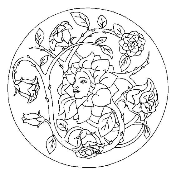 Le coloriage mandala printemps pour imprimer le coloriage - Mandala coeur imprimer gratuitement ...