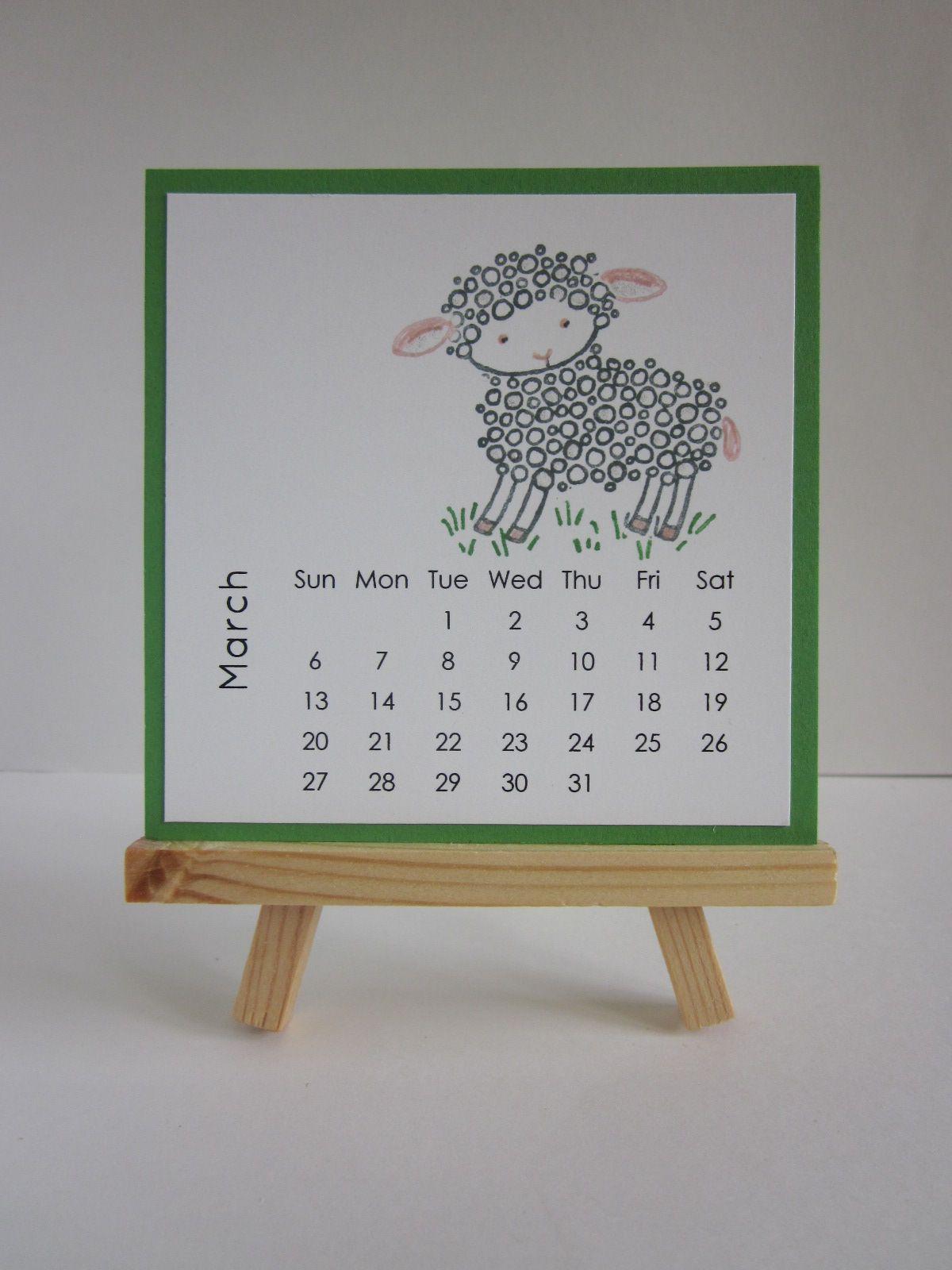 Diy Easel Calendar : Maui stamper diy easel calendar march