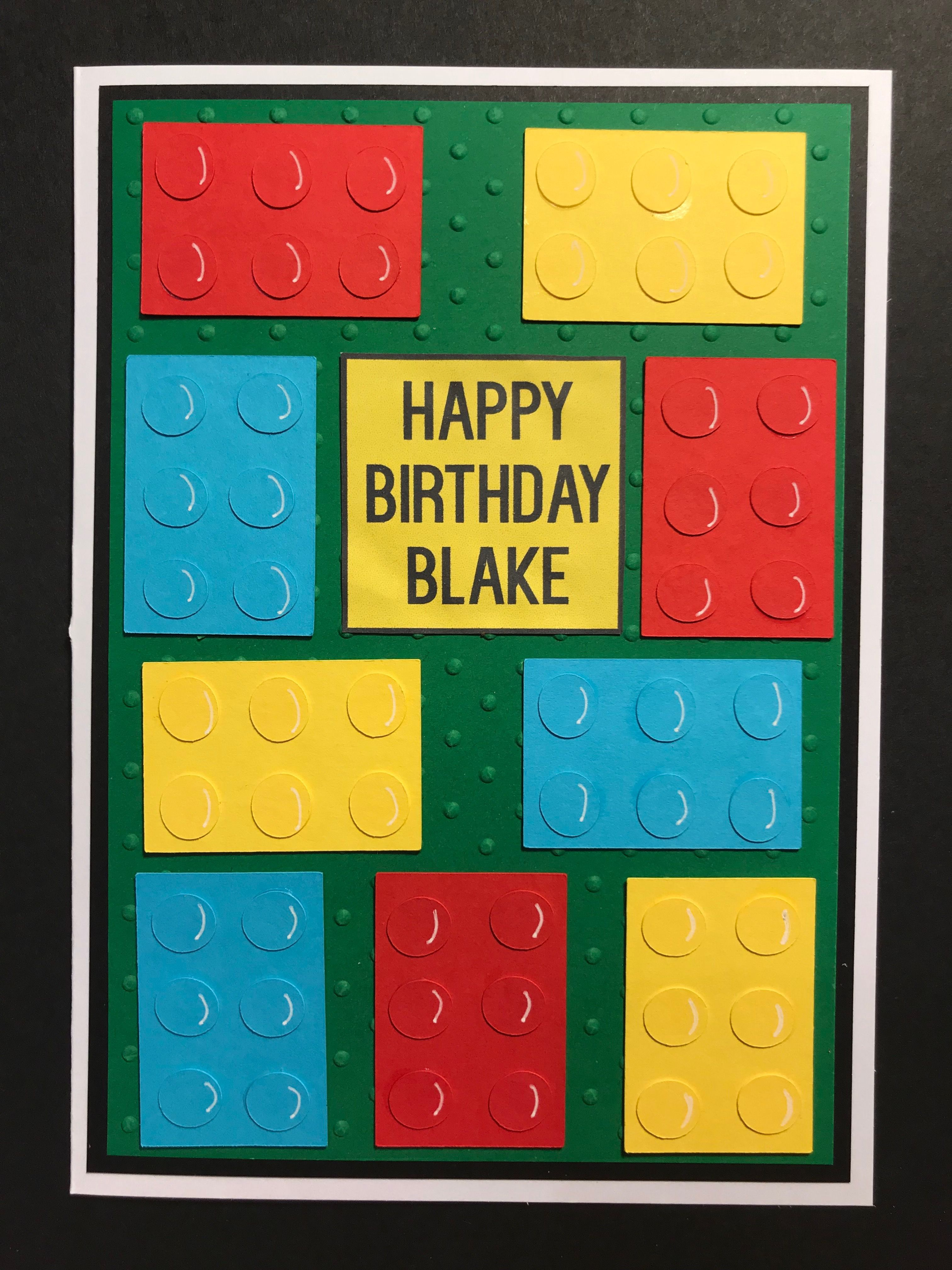 Birthday Card For Lego Fan Kardsbykan With Images Birthday