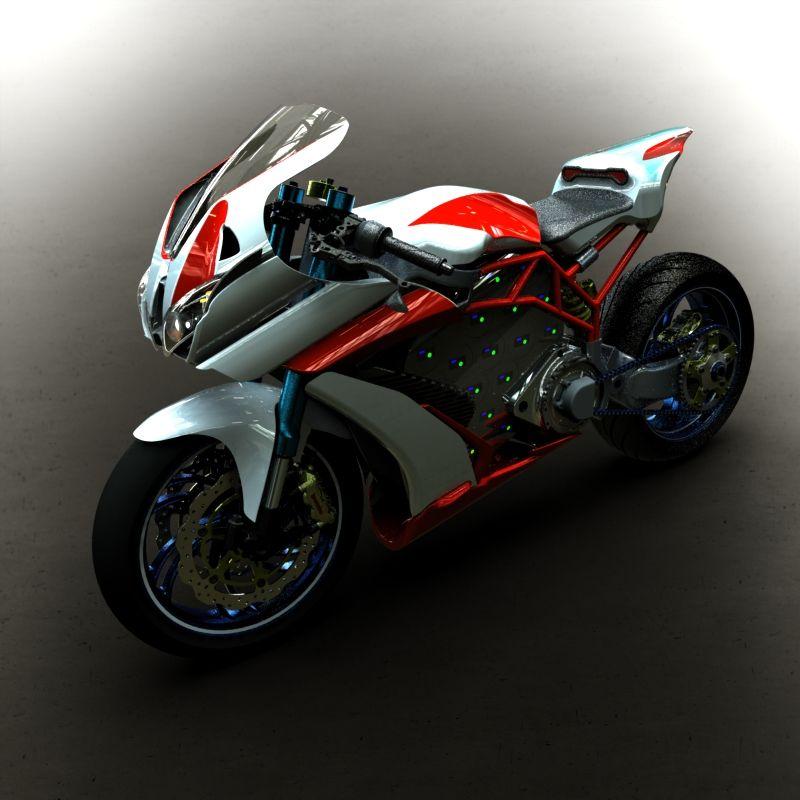 e r7 par greg model de moto lectrique super sportive avec un moteur 72v et 14 bateries en. Black Bedroom Furniture Sets. Home Design Ideas