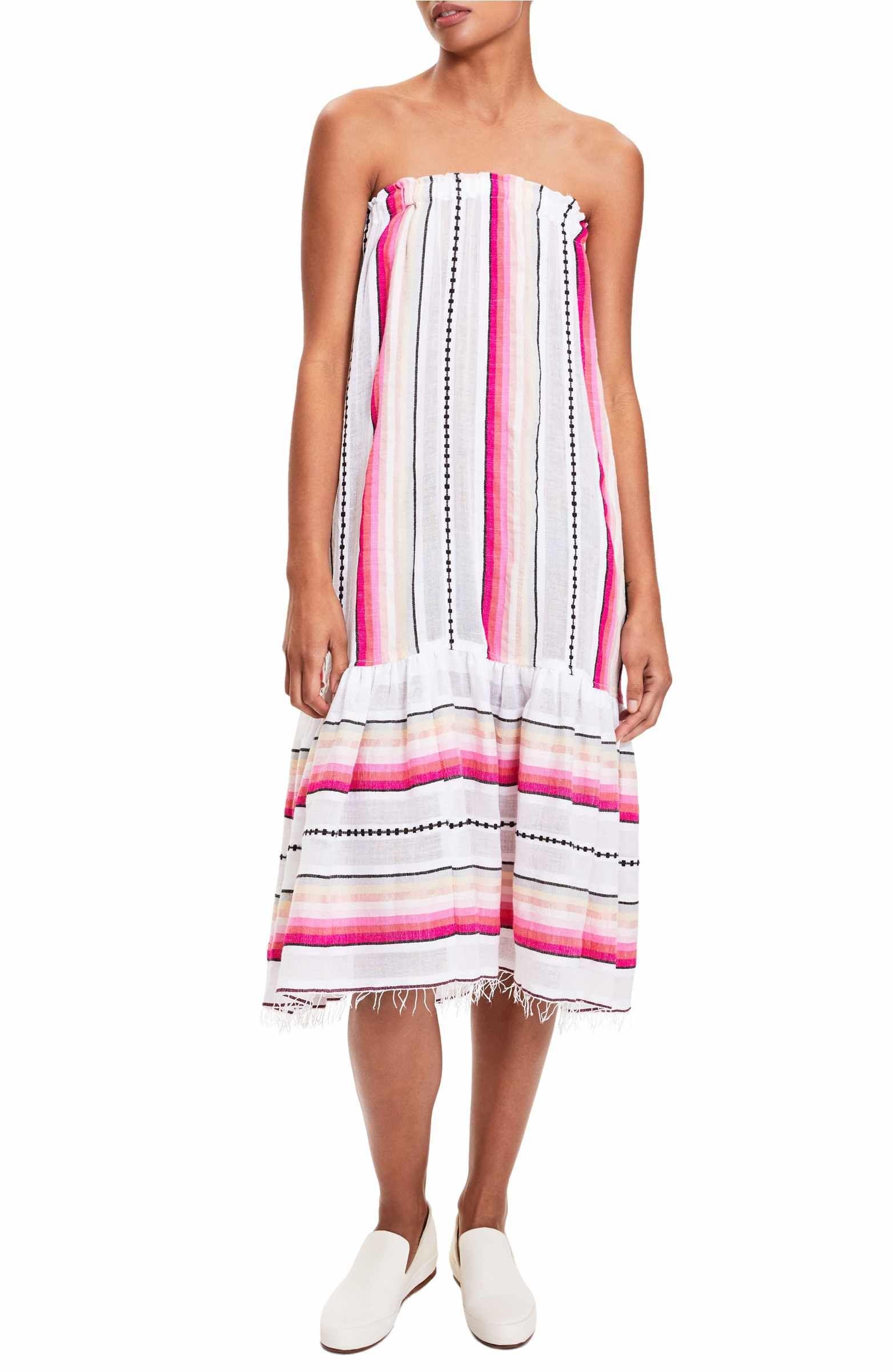 Main Image Lemlem Adia Convertible Cover Up Skirt Strapless Dress