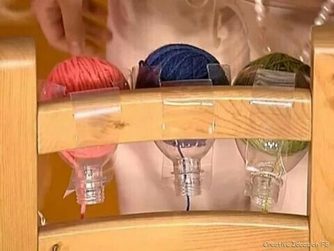 2 Litter bottle diy yarn holder #diyyarnholder