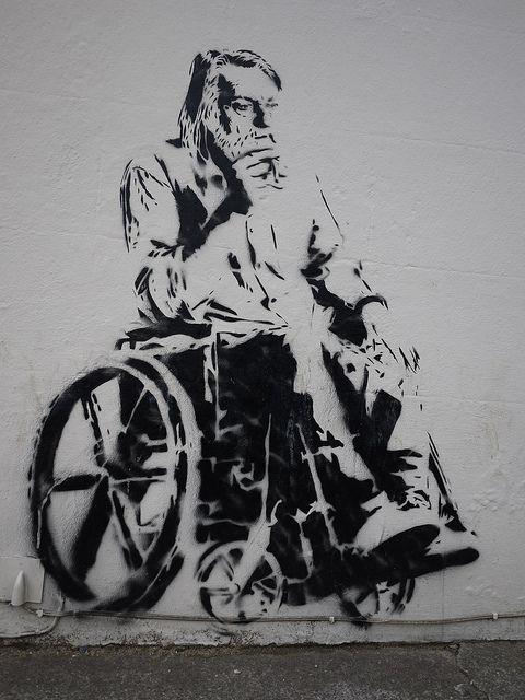 Robert Wyatt stencil by Stewy.