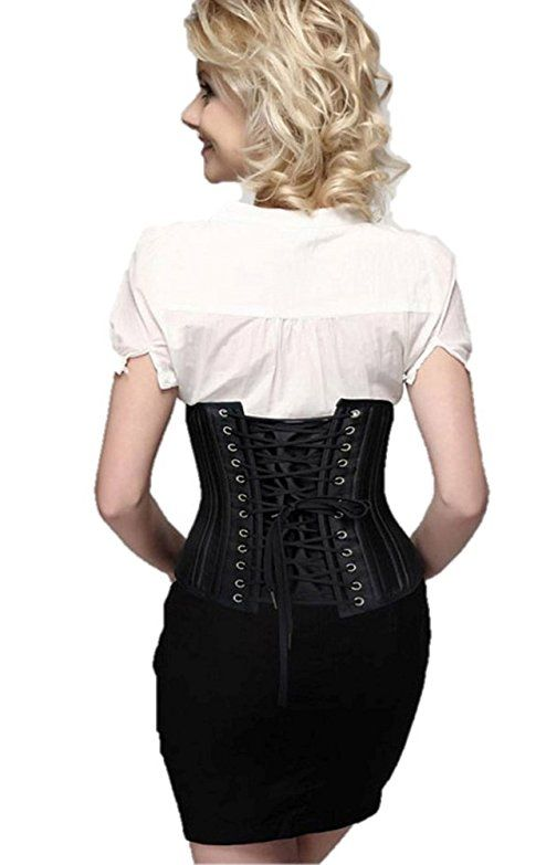 3a413b3a23f Camellias Women s 26 Steel Boned Heavy Duty Waist Trainer Corset Shaper for  Weight Loss at Amazon Women s Clothing store