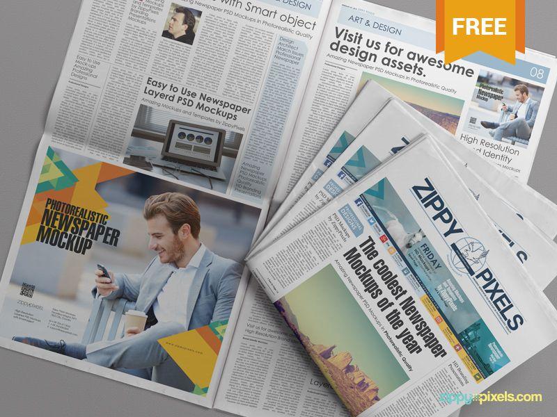 Free Psd Newspaper Advertisement Mockup Newspaper Advertisement