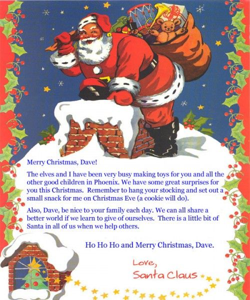Letter From Santa Claus  JpbandthingsCom  ChildrenS Books