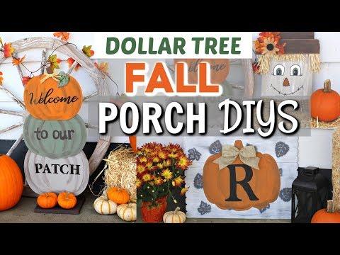 Diy Dollar Tree Fall Porch Decor Diy Fall Porch Dollar Tree Krafts By Katelyn Youtube Fall Decorations Porch Fall Decor Diy Fall Decor Dollar Tree