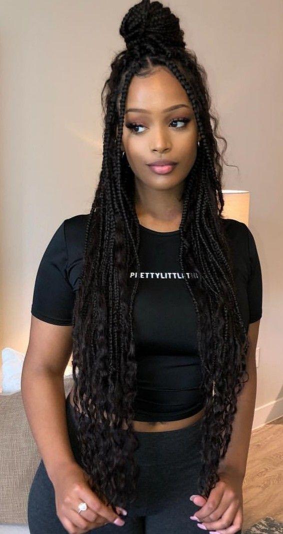 Pin By Tanika Butler On Braids Girls Hairstyles Braids Box Braids Hairstyles Braids For Black Hair