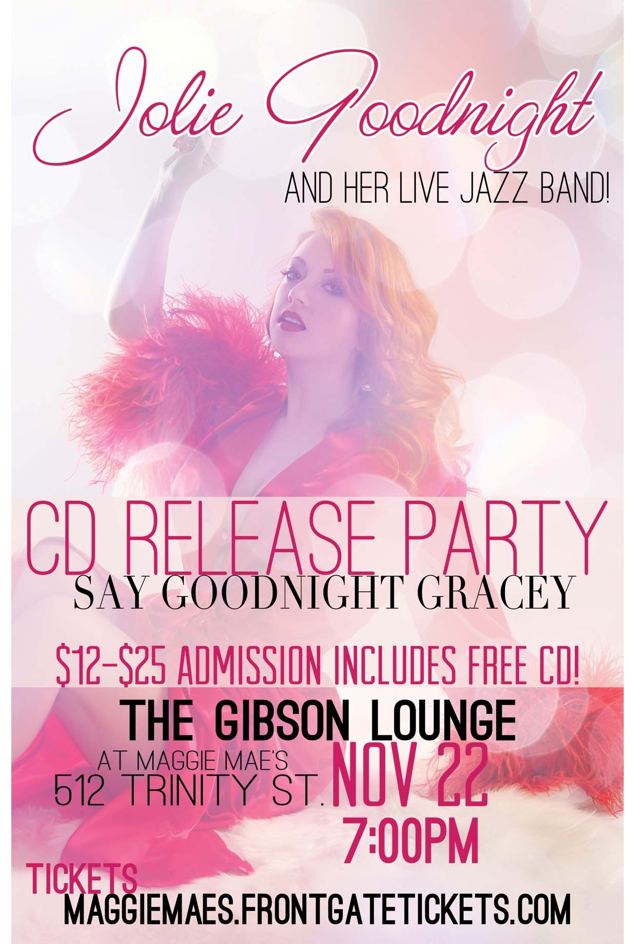jolie goodnight and her live jazz band cd release party november