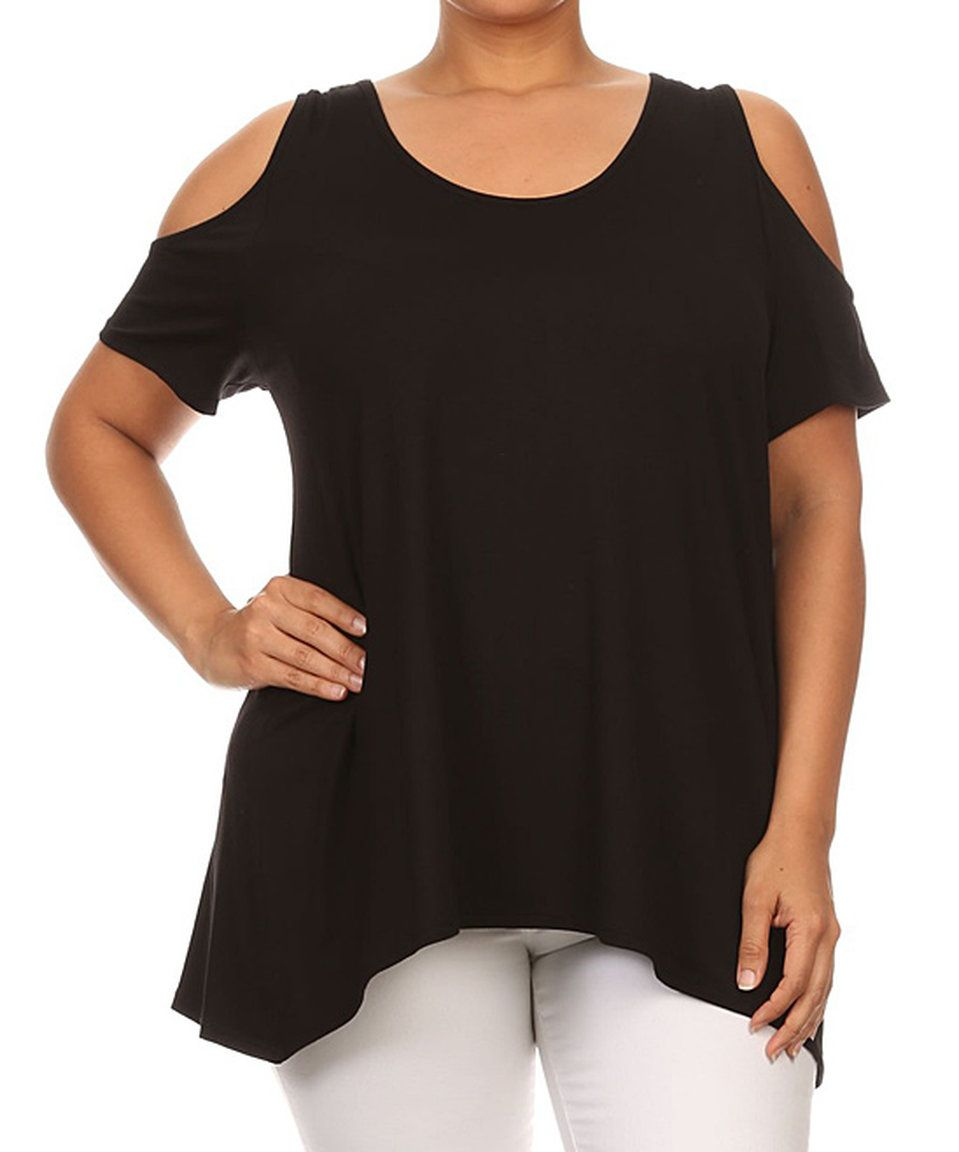 Take a look at this Black Cutout Top - Plus today!