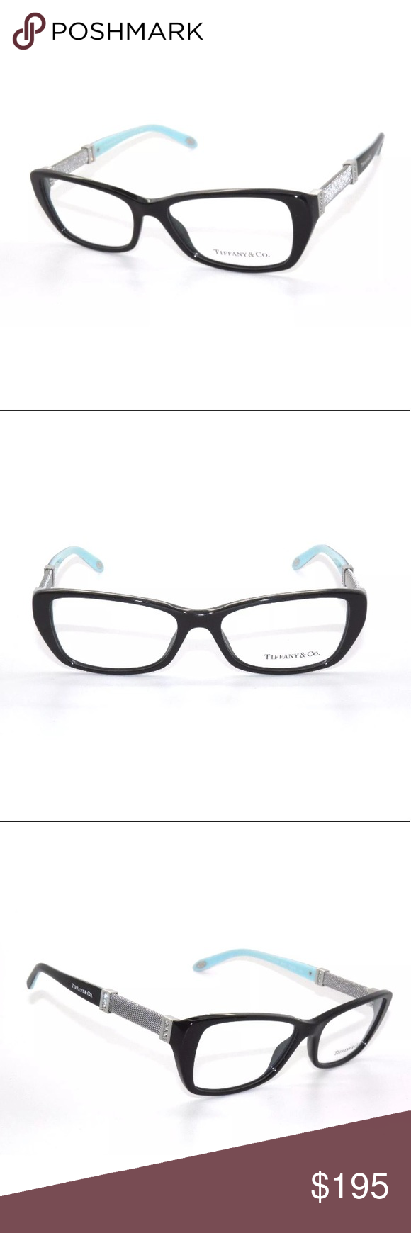 Tiffany & Co Black, Blue and Silver Glasses Frame NWT | Tiffany ...