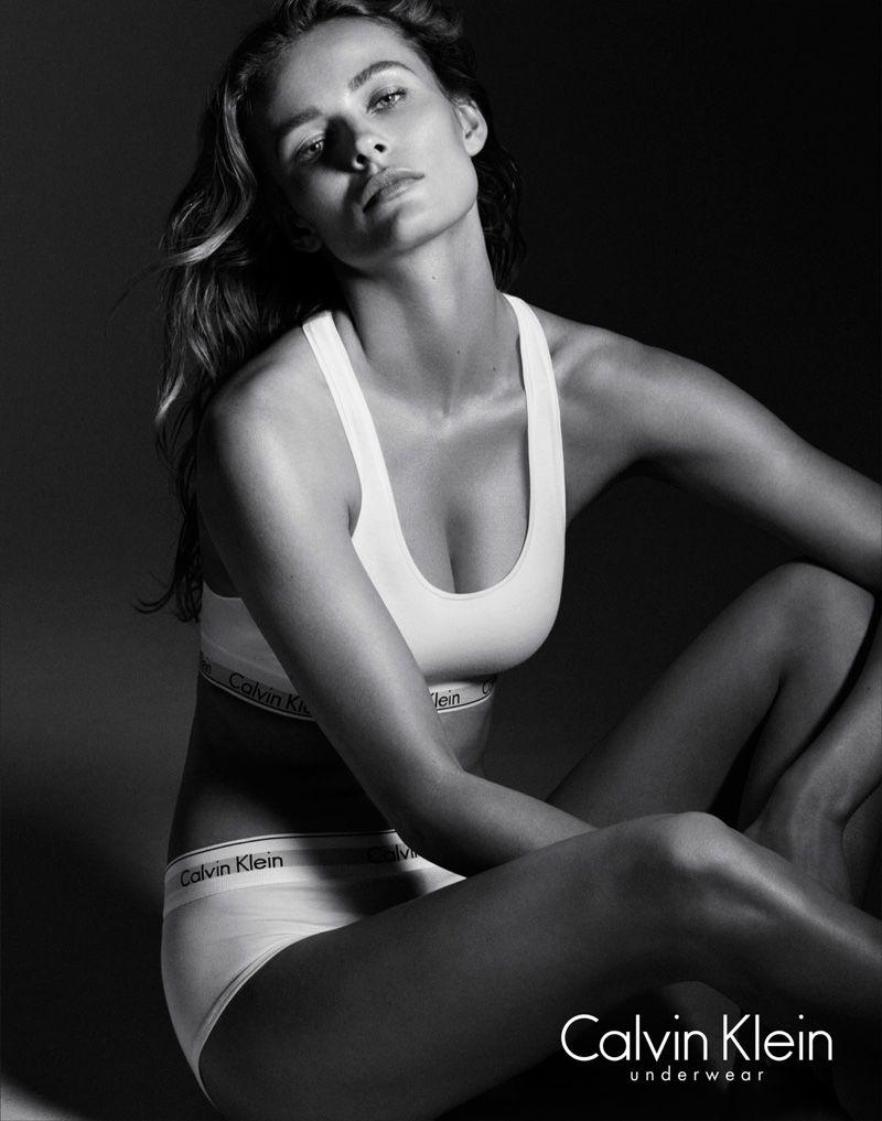 53ff05ef42f02 Edita Vilkeviciute Smolders in Latest Calvin Klein Underwear Images ...