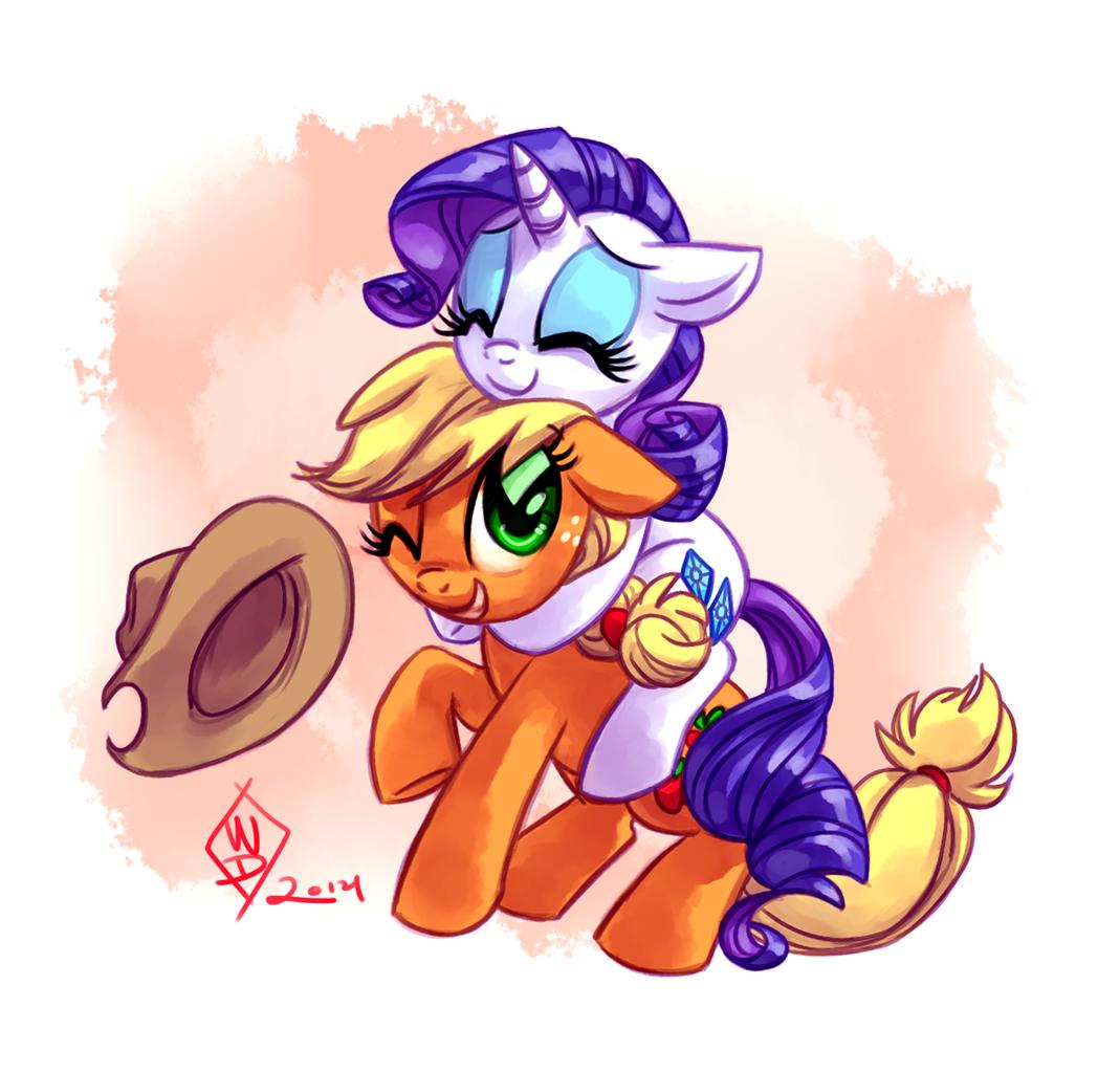 applejack,rarity | My little pony friendship is magic mane six ...