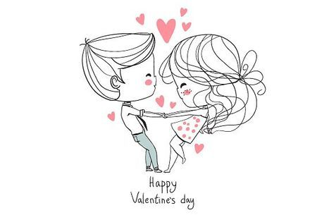 Cute girl and boy. Valentine's Day. by NatalyS on
