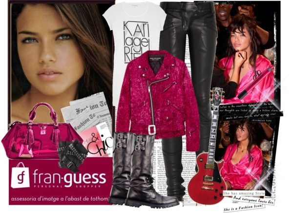 """""""fran-guess with, LOOK REBEL / CHIC"""" by fran-guess ❤ liked on Polyvore"""