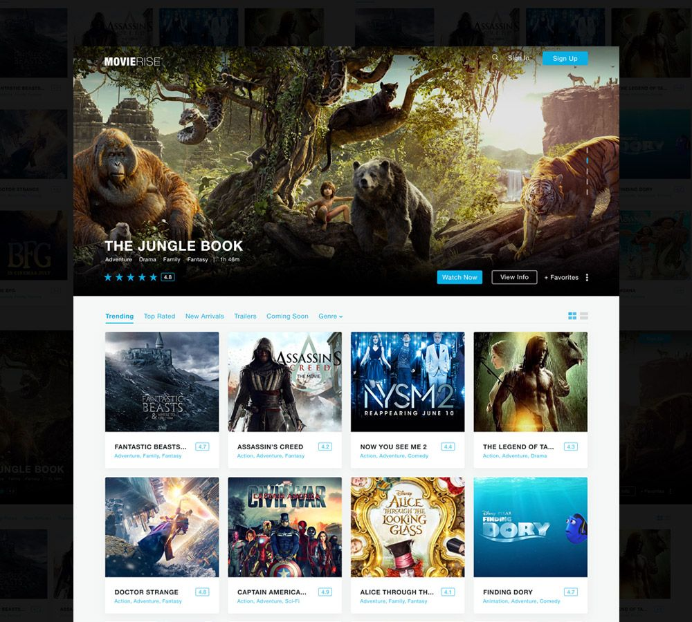 Movie Review Website Template Free Psd