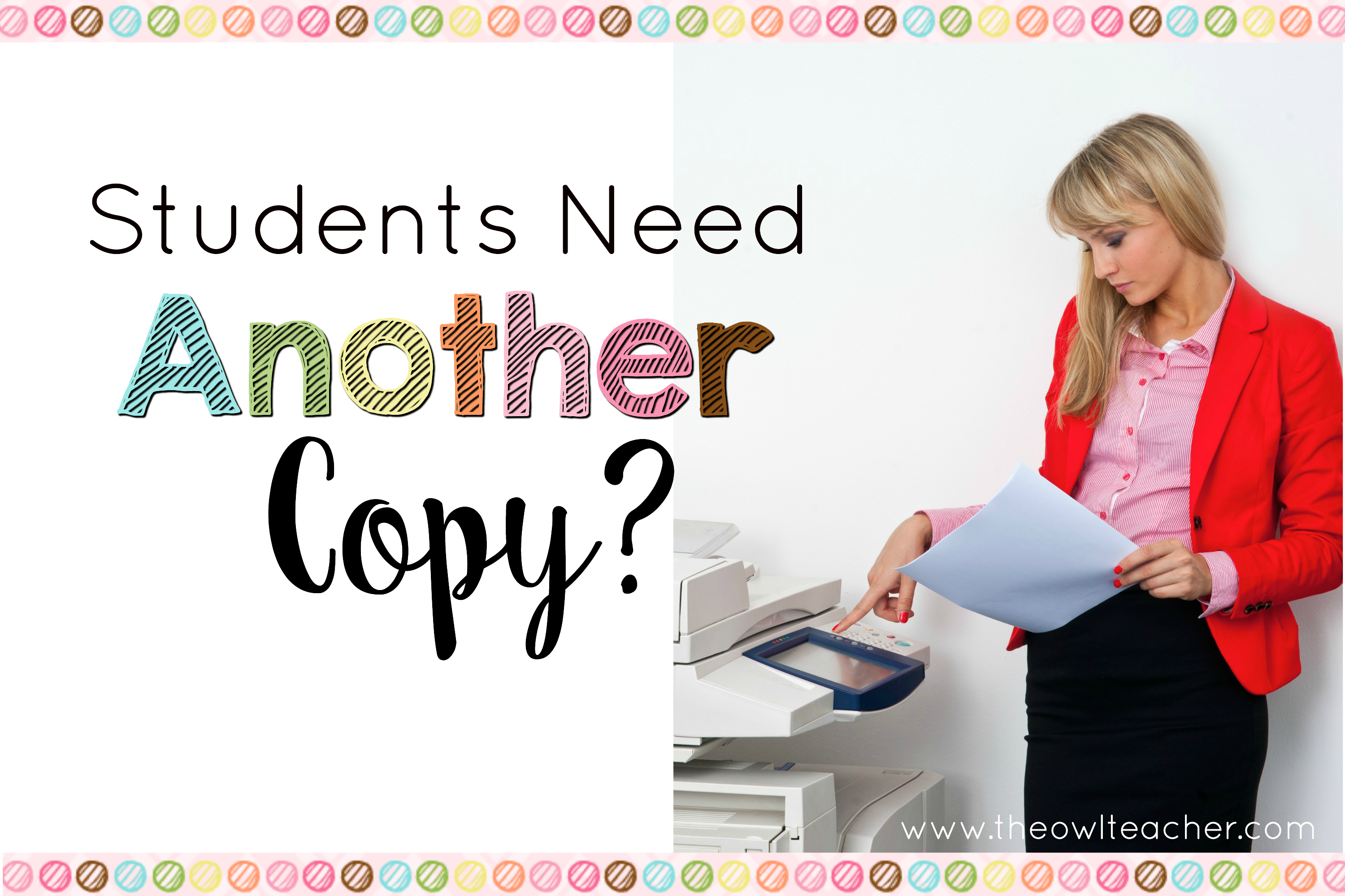 You Need Another Copy Dealing With Extra Copies