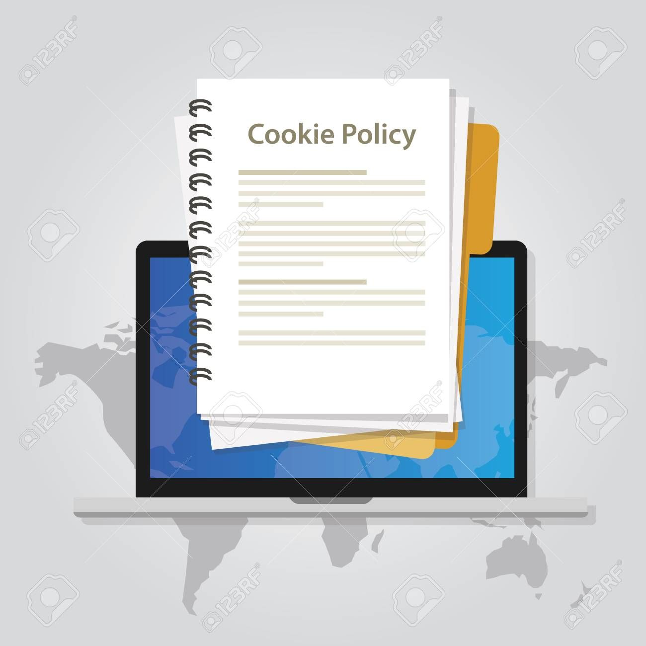 Cookie Policy Information Privacy In Website Collecting Data From Visitor Vector Affiliate Information In 2020 Business Icons Design Business Icon Cookies Policy