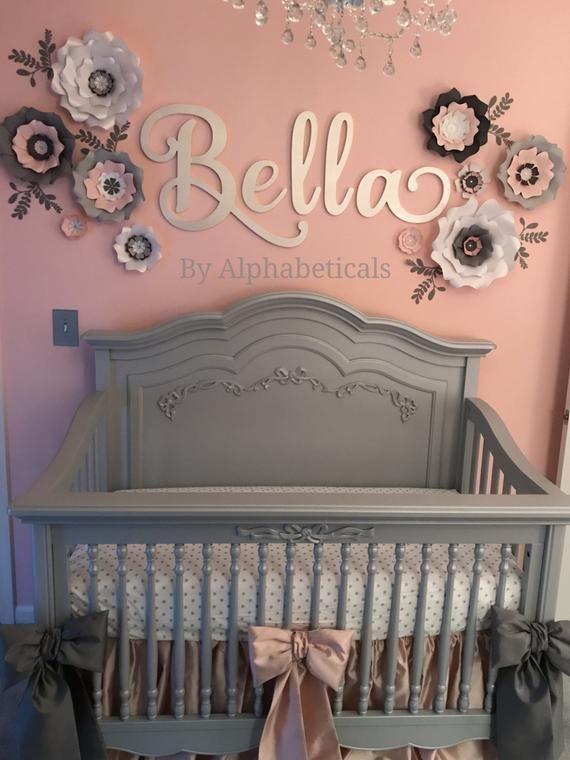Nursery Name Sign Girl Boy Wooden Letters For Wall Decor Etsy Baby Girl Nursery Room Girl Nursery Room Baby Girl Room