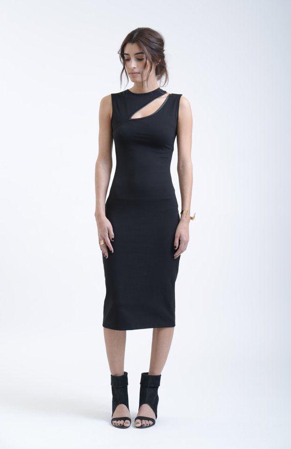 279d09ef763 20% SALE Black Dress / One Shoulder Pencil Dress / by marcellamoda |  clothing | Mesh dress, Formal evening dresses, Fashion