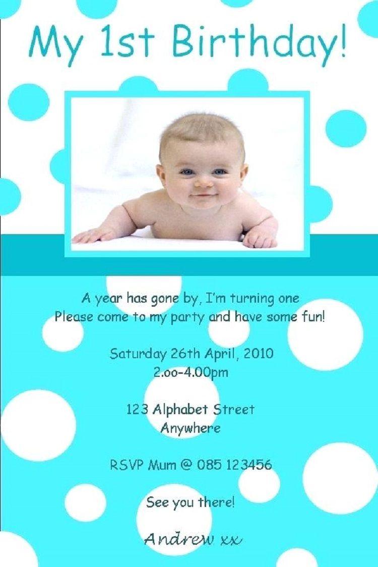 boy birthday invitation card design