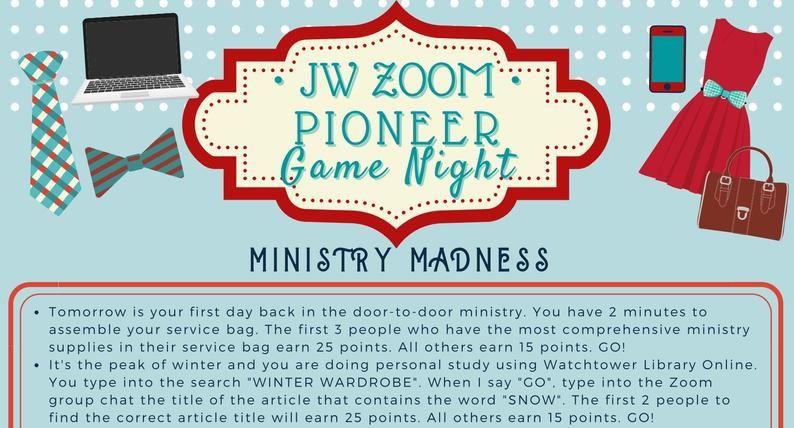Jw Pioneer Game Night Jw Game Zoom Games Jw Pioneer Dinner Etsy Family Worship Ideas Jw Games Jw Family Worship Family Worship Night