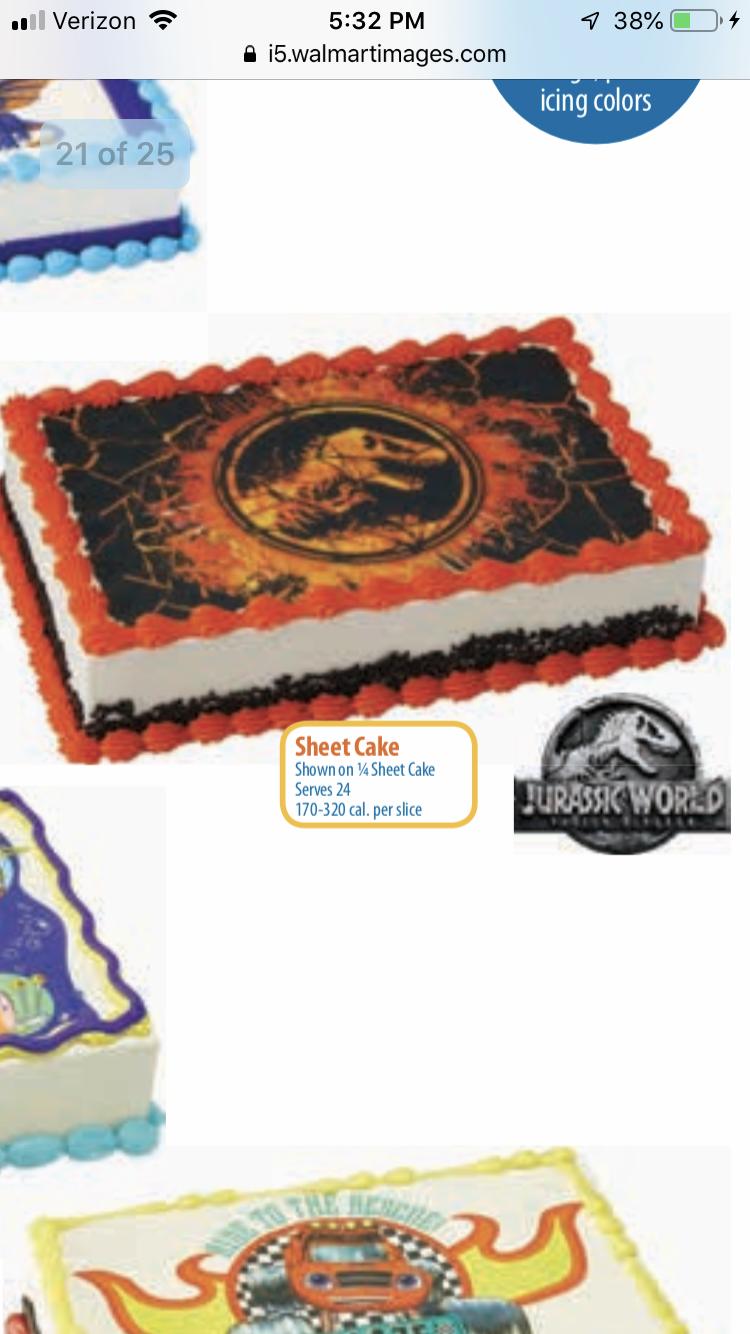 Jurassic Park Birthday Cake Walmart