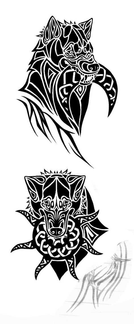 dbd078919 Hati and Sol tat design; sons of Fenrir | Tattoos | Norse tattoo ...