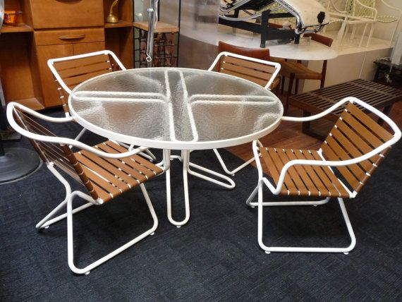 20 Off Brown Jordan Kailua Set Four Chairs And Table Mid Century Modern Outdoor Patio Furniture Vintage Chair