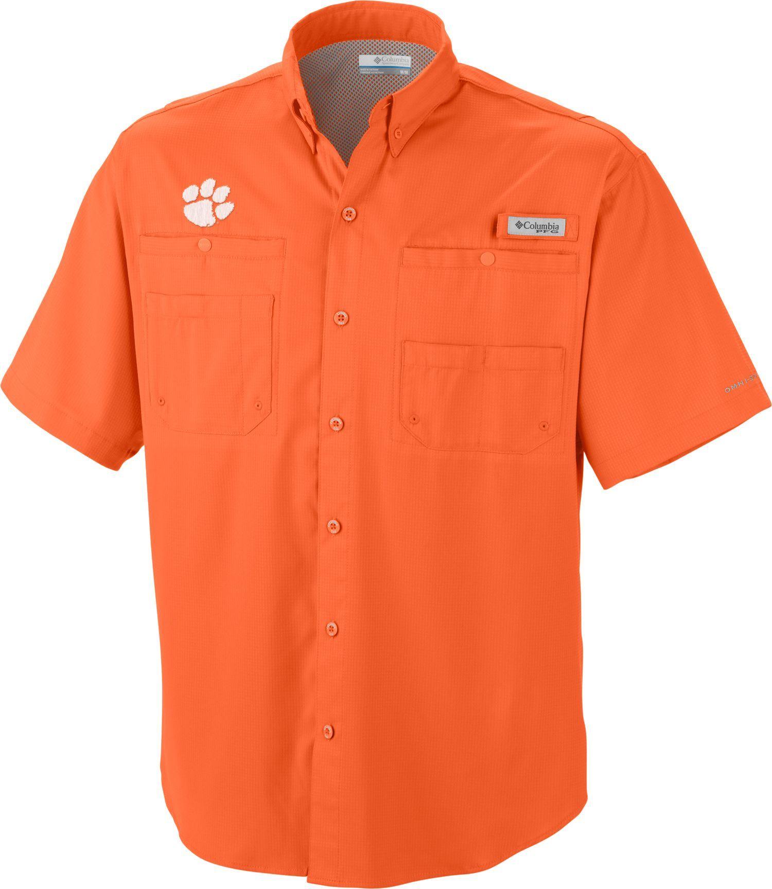 7e1d5d8fec5 Columbia Men's Clemson Tigers Orange Tamiami Performance Shirt, Size: XXL