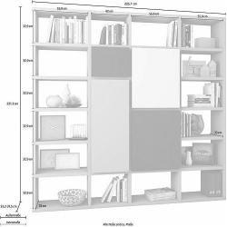 Floor shelves & high shelves