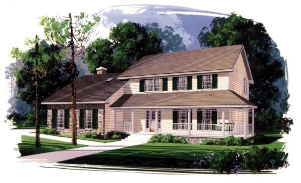 Farmhouse House Plan chp-17856 at COOLhouseplans.com