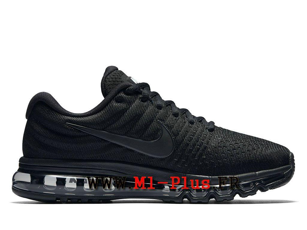 8396a1c7cb4 Nike Air Max 2017 - Chaussure de Nike Running Pas Cher Pour Homme Noir Noir  Noir 849559 004
