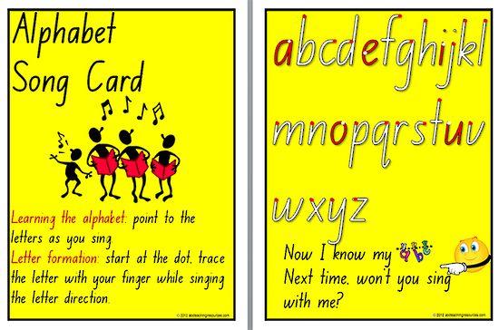 Alphabet | Foundation font | Song Chart. FONT OPTION: A ...