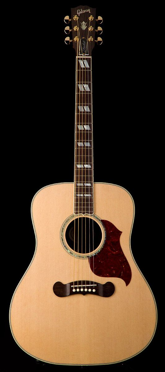 gibson songwriter deluxe studio acoustic electric guitar in natural gold hw guitar center. Black Bedroom Furniture Sets. Home Design Ideas