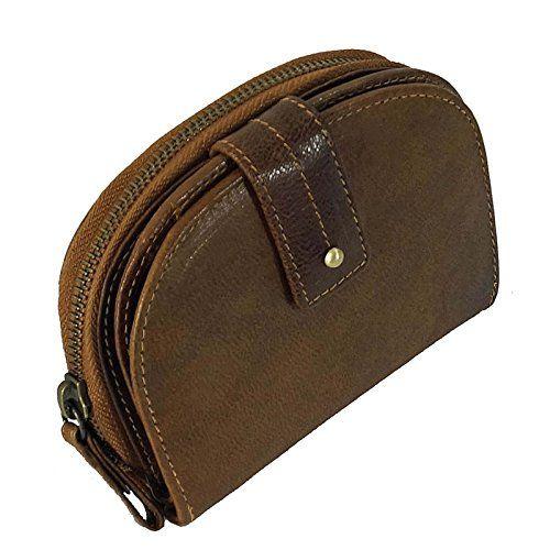 be217f9d9aa5f Branco gräumige Leder Geldbeutel Damenbörse Portemonnaie Vintage Geldbörse  Börse cognac GoBago. Material  zu einem