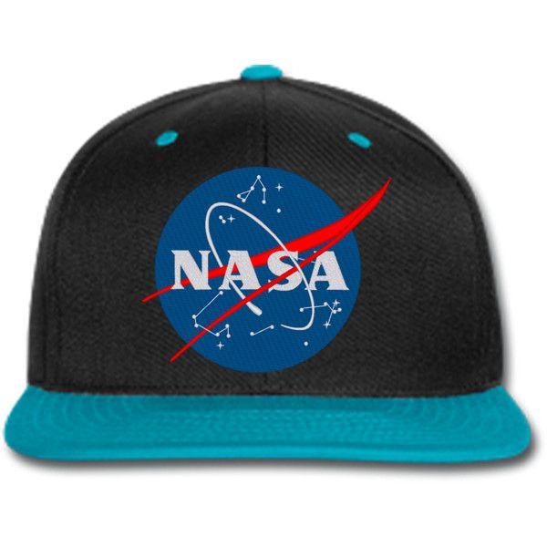 NASA logo beanie or SNAPBACK hat ($23) ❤ liked on Polyvore featuring accessories, hats, logo beanie, logo snapback hats, snap back hats, logo beanie hats and snapback hats
