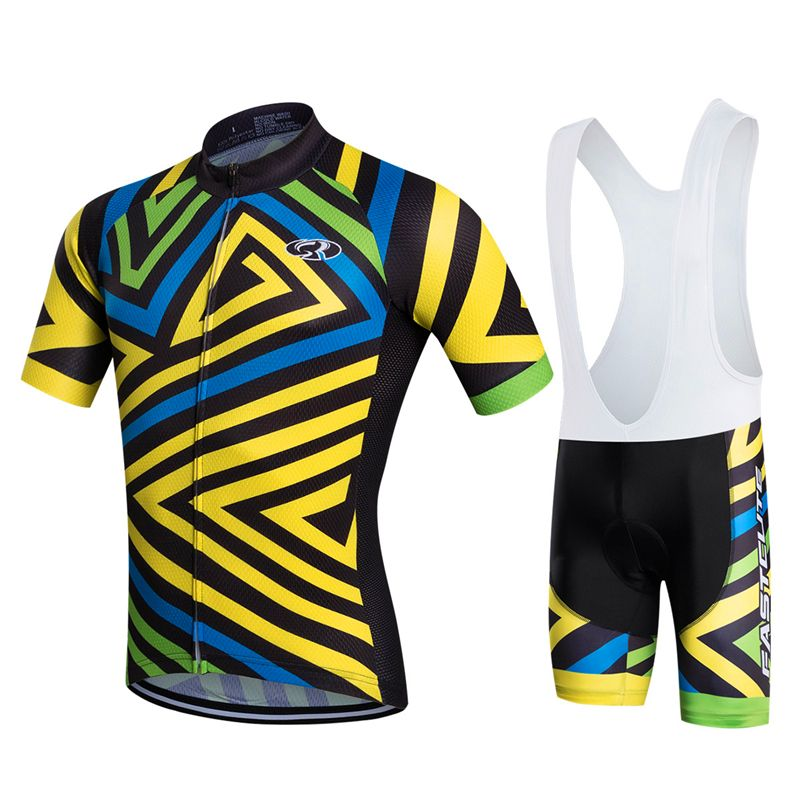 FASTCUTE 100% Polyester Short Sleeve Cycling Jerseys Set Pro Summer Bicycle  Clothing Quick-Dry Bike Wear Maillot Ropa Ciclismo 8c114b6a0
