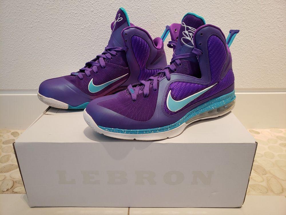 4a1d80e6ab9f5b Lebron 9 Summit Lake Hornets limited edition rare basketball shoes ...