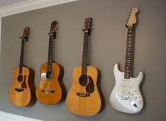 Les Solutions Pour Poser Sa Guitare Debutant Guitares Et Solution - Porte guitare mural