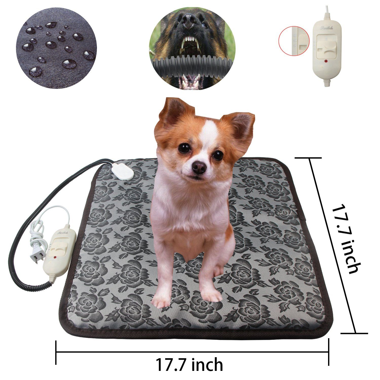 Waterproof Pet Heating PadElectric Adjustable Warming Dog