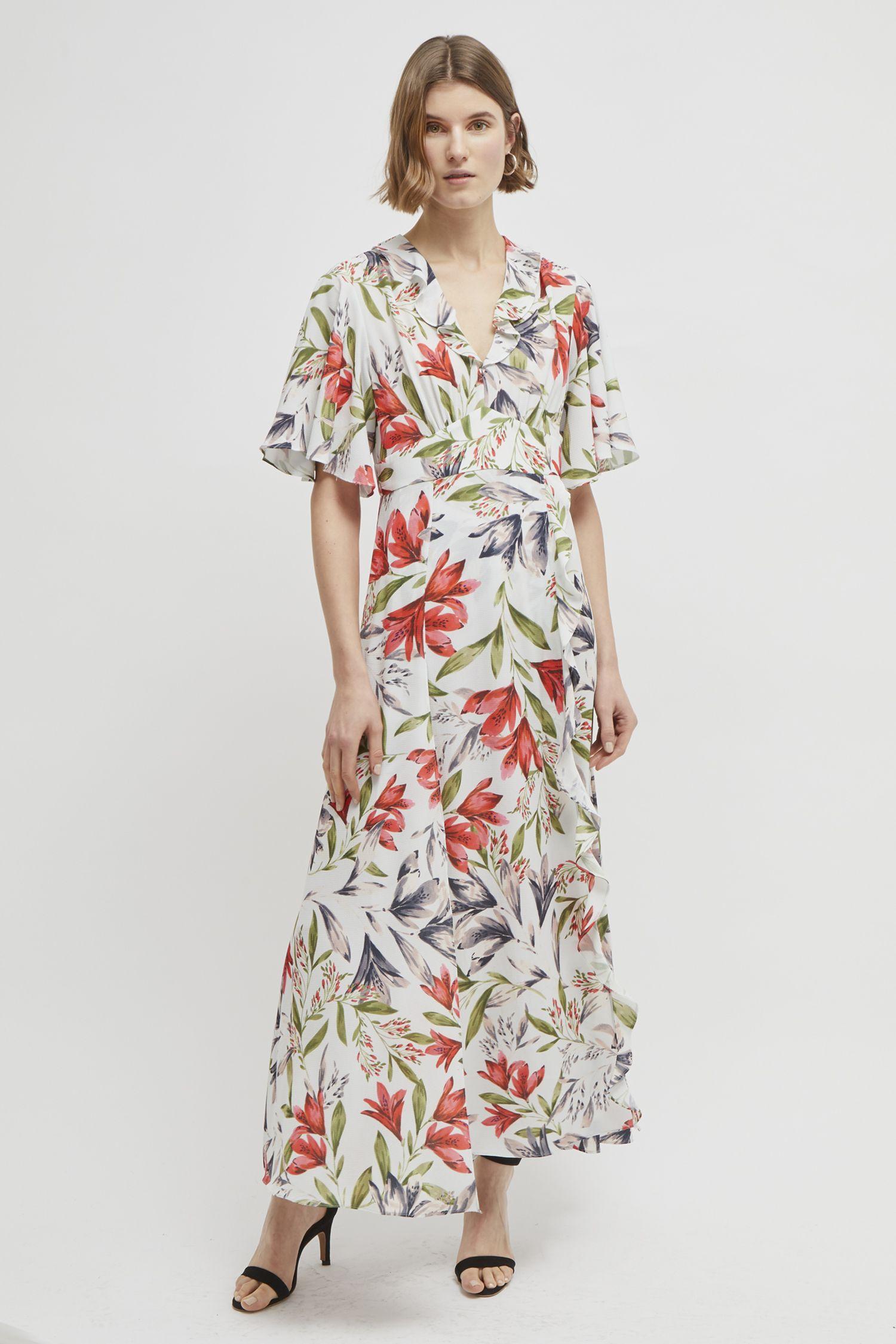 20c858d93c987 Cadencia Crepe Floral Maxi Dress in 2019 | платье | Floral maxi ...