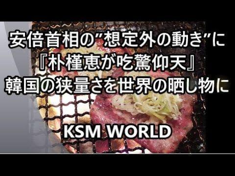 """【KSM】安倍首相の""""想定外の動き""""に『朴槿恵が吃驚仰天する』珍事が発生。韓国の狭量さを世界の晒し物に"""