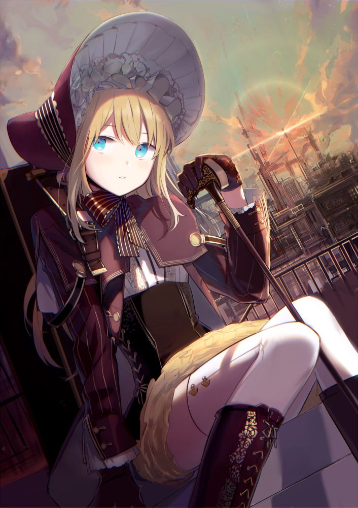 Blonde Victorian Anime Girl