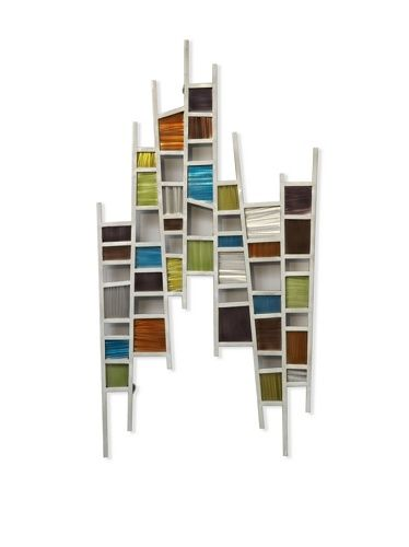 Nova Colored Windows Wall Art Brushed Steel Wire Ground Multicolor