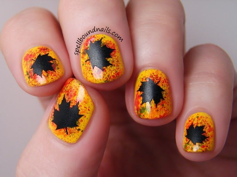 Maple Leaf Nail Art | Spellbound Nails | Holiday/Themed Nail Art 2 ...